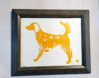 English Setter Silhouette