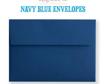 Navy Blue Envelopes Upgrade   A7 Envelopes   Peel and Stick Envelopes   Matte Navy Blue   5x7