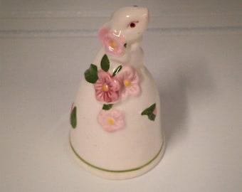 Rabbit Bell, Avon Porcelain Bunny Bell, Collectible Rabbit Bell, Avon Bunny Bell, Collectible Avon Bell
