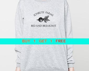 Schrute Farms sweatshirt dunder mifflin sweater the office shirt dwight schrute pullover unisex crewneck sweatshirts grey black S M L XL