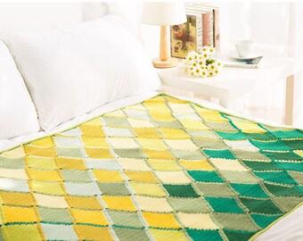 Throw blanket , crochet blanket , handmade blanket,crochet Afghan, modern blanket - Diamond pattern