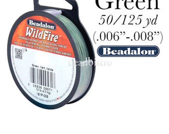 Beadalon Wildfire GREEN Beading Thread - FREE SHIPPING