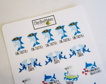 Shark Decorative Pun Stickers