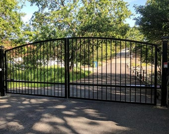 Wood gate etsy for Single wooden driveway gates