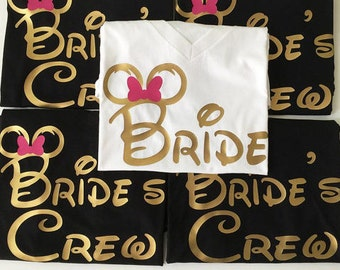 Free Shipping Till August/Disney Bachelorette Shirts,Disney Bride Shirts,Disney Bridesmaid Shirts Disney Bride Shirt,Disney Groom Shirt