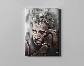 Johnny Hallyday canvas print art wall art home decor Canvas print
