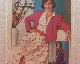 Sewing Pattern for women Simplicity 7374 Size 14 Dress and Lined Jacket Uncut