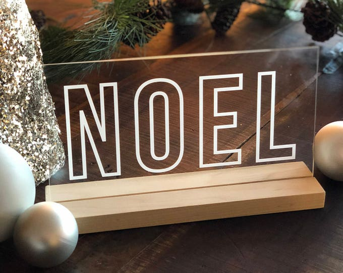 Noel Engraved Acrylic Sign