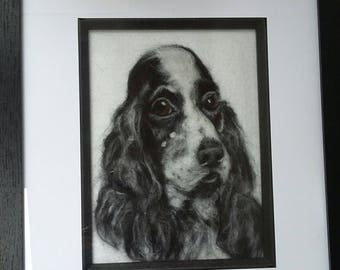 Needle felted Cocker Spaniel 2d picture