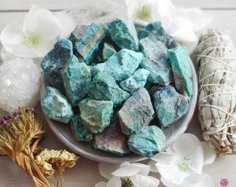 Chrysocolla - Rough Stones - Healing Stones - Raw Stones - Gemstones  - Meditation Stones - Intention Stones - Chakra Stones - Loose Stones