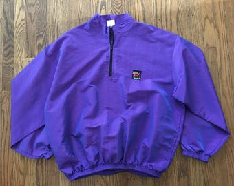 Vintage 90s Surf Style Spring Fall Windbreaker Jacket - XL * Made In USA