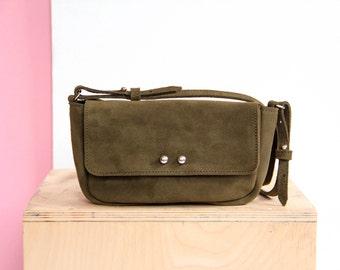 Leather crossbody bag | leather handbag | crossbody bag purse | small leather bag | gift for her | leather shoulder | small bag | deep green