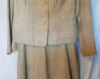 1950s two pieceskirt and jacket in good condition, size med