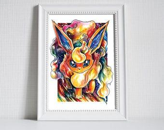 Pokemon Print ~ Flareon