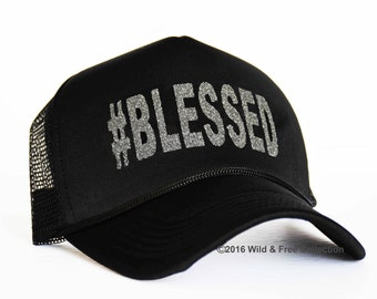 Blessed Trucker hat | Blessed snap back cap | Hashtag blessed trucker hat