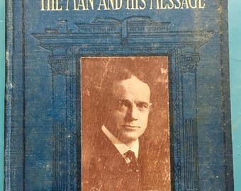 """Vintage Books """"Billy"""" Sunday The Man and His Message William Ellis 1914 Baseball Evangelism Biography Christianity Revivalism Mixed Media"""