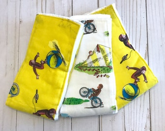 Curious George ~ Burp Cloths ~ Set of 3
