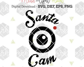Santa Cam svg, Christmas Ornament svg, Santa svg, Elf svg, holiday svg, INSTANT DOWNLOAD files for cutting machines - svg, png, dxf, eps