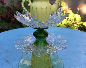 Glass Totem, Garden Decor, Yard Art
