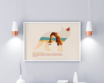 Arches National Park - National Park Poster - Arches -  Minimalist Poster – Wall art – Wall Décor - John Muir Quote - Kids National Park