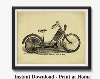 Motorcycle Wall Art motorcycle wall art | etsy