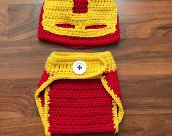 Iron man crochet outfit
