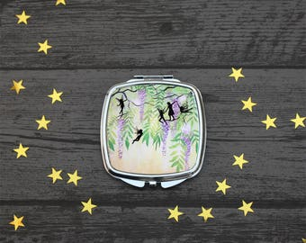 Play with Fairies, Compact Mirror, whisteria, Fantasy Art, UK Seller.