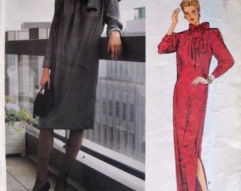 Vintage Dress Pattern, Givenchy Dress, Vogue 1309, Misses Size 10, Vintage Sewing Pattern, Uncut, Long Dress, Short Dress, Formal Dress