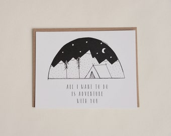 Adventure With You Greeting Card