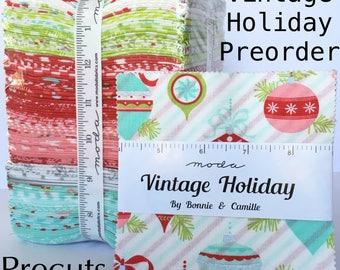 P R E O R D E R Vintage Holiday Precuts by Bonnie and Camille for Moda