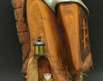 Gnome home with Lantern and gnome