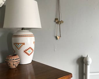 Southwestern Lamps Geometric Lamp White Ikea Desk Vintage Nursery