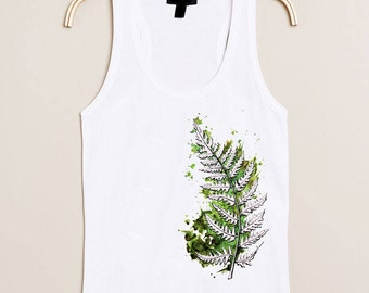 """Fern"" watercolor print T-Shirt"