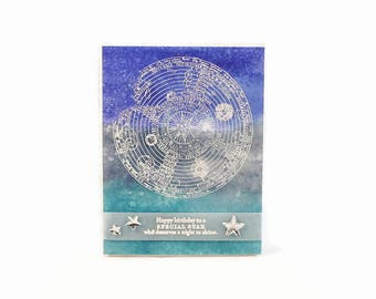 Birthday Card, Constellation, Zodiac Birthday, Astrology Card, Card For Mom, Mother, Friend, Best Friend, Wife, Daughter, Coworker, Boss