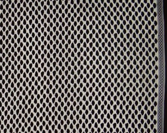"""Indian Cotton Fabric, Leopard Print, Ethnic Fabric, White Fabric, Sewing Crafts, 45"""" Inch Apparel Fabric By The Yard ZBC8420A"""