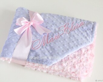 lavender minky baby blanket soft and warm baby blanket baby shower gift for newborn