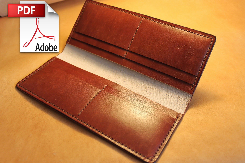 Leather Long Wallet Pattern // Leather Wallet Pattern