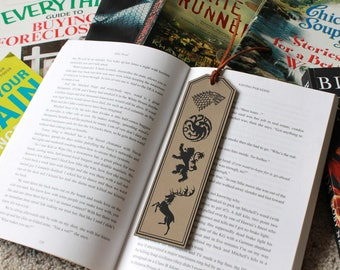 Game Of Thrones Bookmark, GOT Bookmark, Game Of Thrones Gifts, Personalized Bookmark Custom Bookmark Leather Bookmark --FXBM-LB-Got