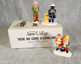 "Vintage Department 56 Snow Village, ""Here We Come A Caroling"" Figurines"