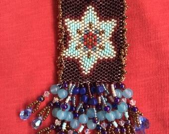 Peyote Stitched Medicine Bag Necklace