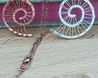 Woven Shell Necklace - Copper or Sterling