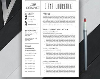 simple professional resume