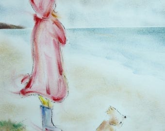 Scruffy Dog and the Red Coat