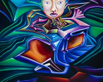 Crystalizine - Fine Art Print by EmJae Lightningbug