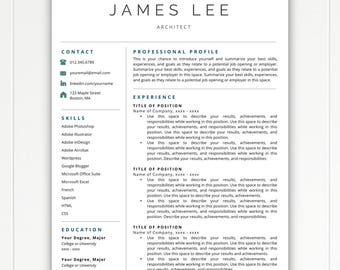 Professional Resume Template, Resume Template Instant Download, Free Resume Template, Resumes, Cover Letter + References Included, Mac + PC