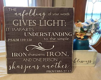Scripture Wall Art • Psalms Wood Sign • Religious home decor • Bible Verse Plaque • Rustic Shabby Chic • Custom Scripture • Farmhouse Decor