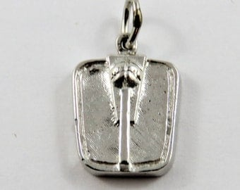 Bathroom Scale Sterling Silver Charm of Pendant.