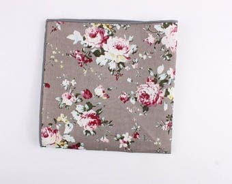 T1 Floral Pocket Square