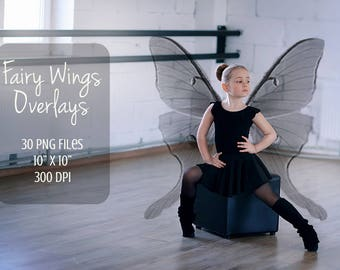 Wings overlays, fairy wings, 30 PNG, photoshop overlay, fantasy, magic, clip art, fairy overlay, photoshop, magical fairy, wings overlay