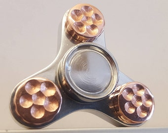 ONE of a Kind! MEGA MINION Fidget Spinner with swappable R188 Bearing and Giant Copper Studs and Thick Stainless Caps